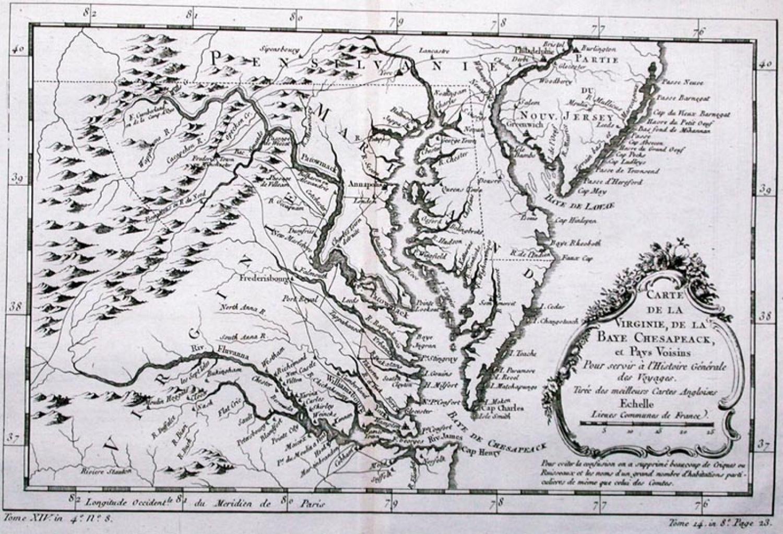 SOLD Carte De La Virginie...