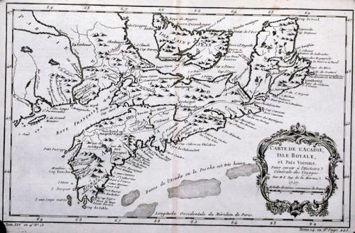 SOLD Carte De L'Acadie Isle Royale ...