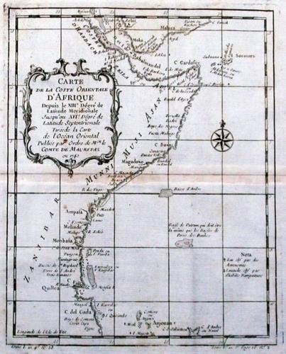 SOLD Carte De La Coste Orientale D'Afrique