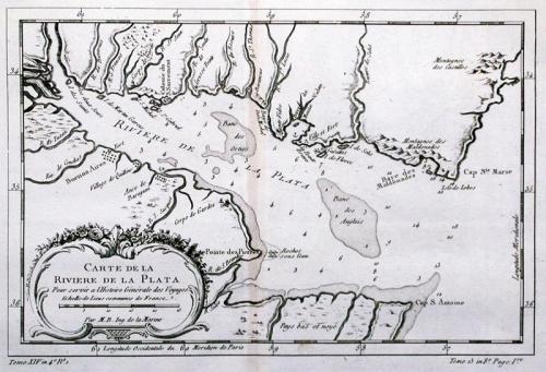 SOLD Carte De La Riviere De La Plata