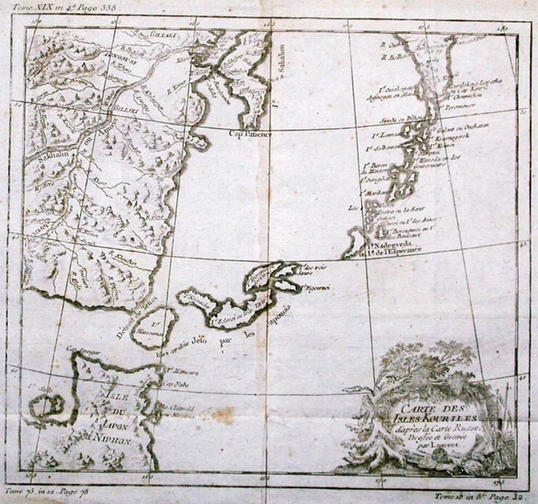 SOLD Carte Des Isles Kouriles