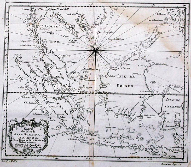 SOLD Carte des Isles de Java Sumatra Borneo &c