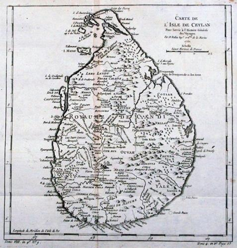 SOLD Carte De L'Isle De Ceylan..