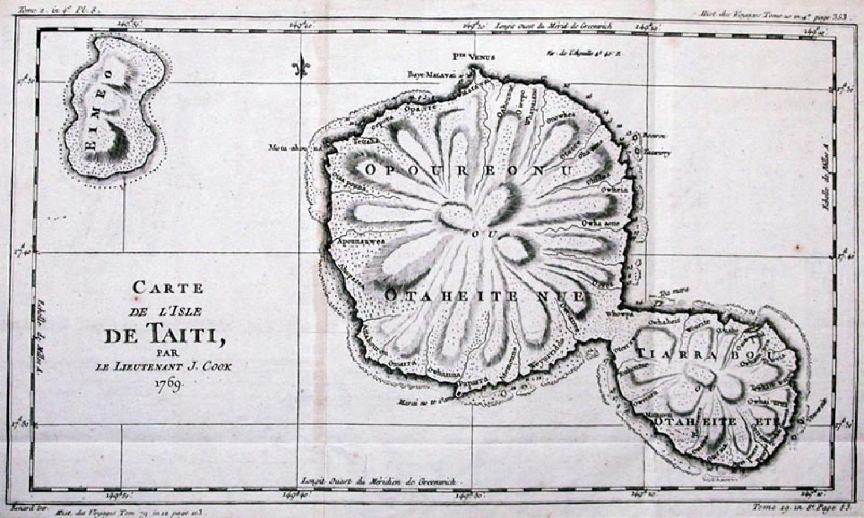 SOLD Carte de L'Isle De Taiti