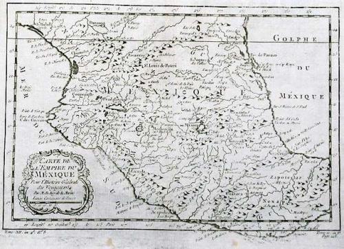 SOLD Carte De L'Empire Du Mexique