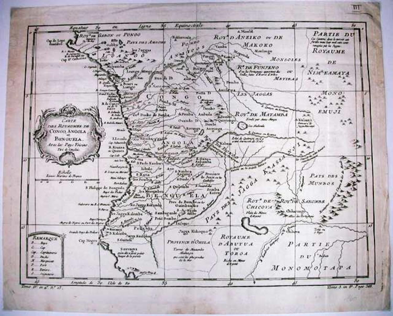 SOLD Carte Des Royaumes De Congo, Angola et Benguela