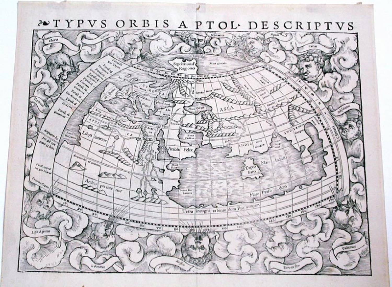 SOLD Typus Orbis A Ptol Descriptus