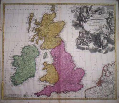 SOLD Magna Britanniae complectens Angliae, Scotiae et Hiberniae...