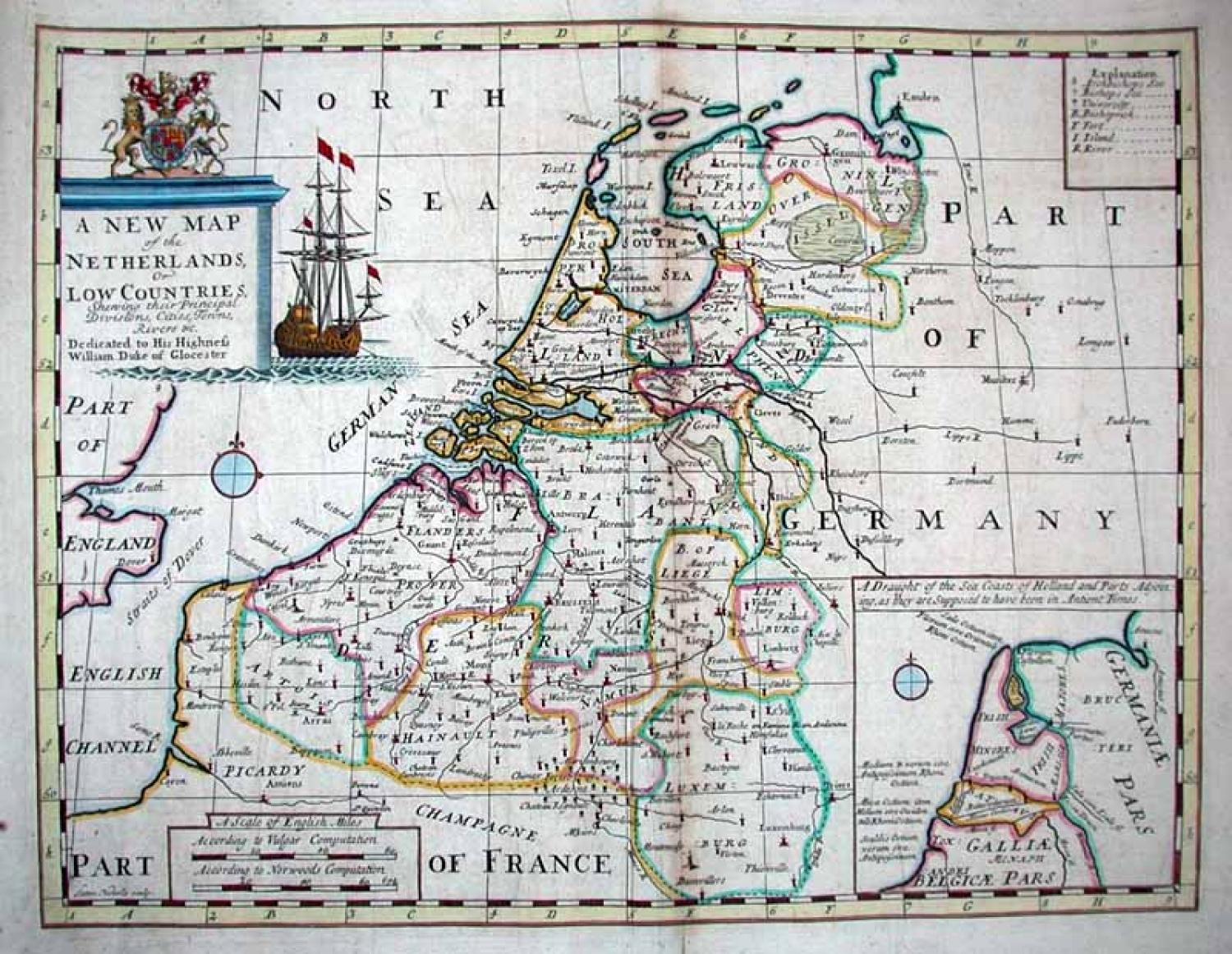 SOLD A New Map of the Netherlands or Low Countries