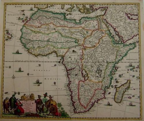 SOLD Totius Africae Accuratissima Tabula