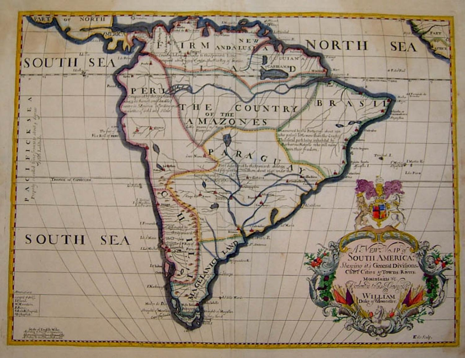 SOLD A New Map of South America.