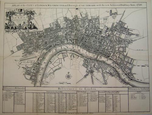 SOLD A plan of the Citys of London and Westminster