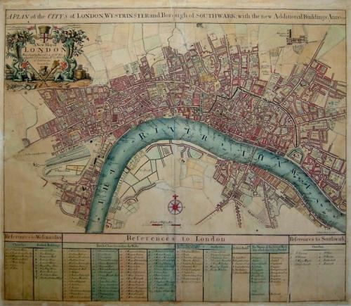 SOLD A plan of the Citys of London and Westminster ...