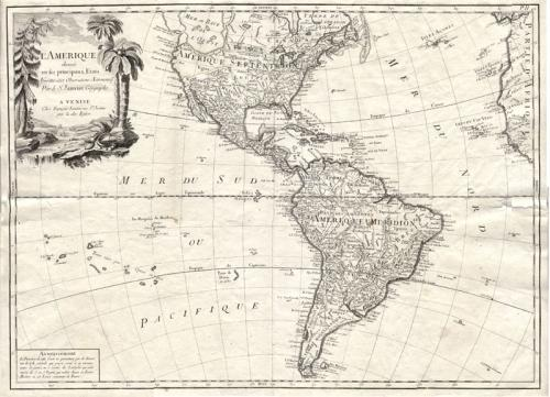 SOLD L'Amerique divisée en ses principaux Etats