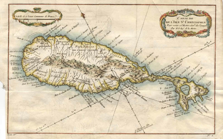 SOLD Carte de l'Isle St Christophle