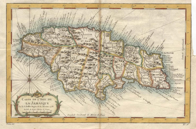 SOLD Carte de L'Isle de La Jamaique...