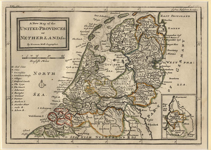 Moll - United Provinces or Netherlands