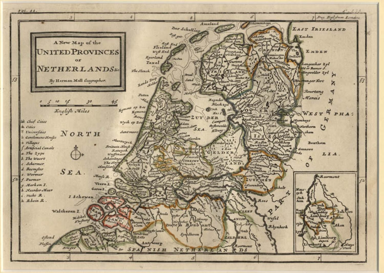 Moll - United Provinces or Netherlands