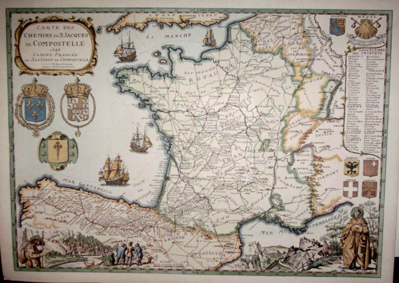 SOLD Carte des Chemins de D Jacques