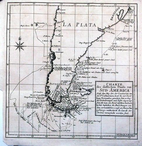 SOLD Charte des sudlichen theils von Sud america