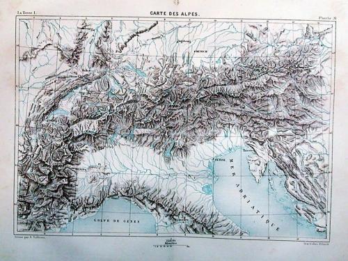 SOLD Carte des Alpes
