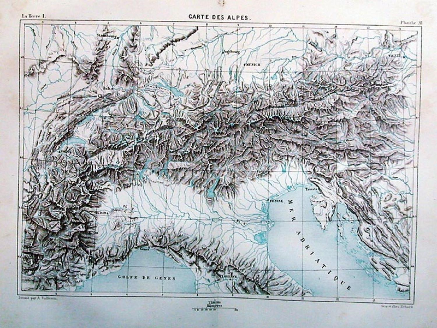 SOLD Carte des Alpes