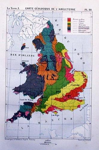 SOLD Carte Geologique de l'Angleterre