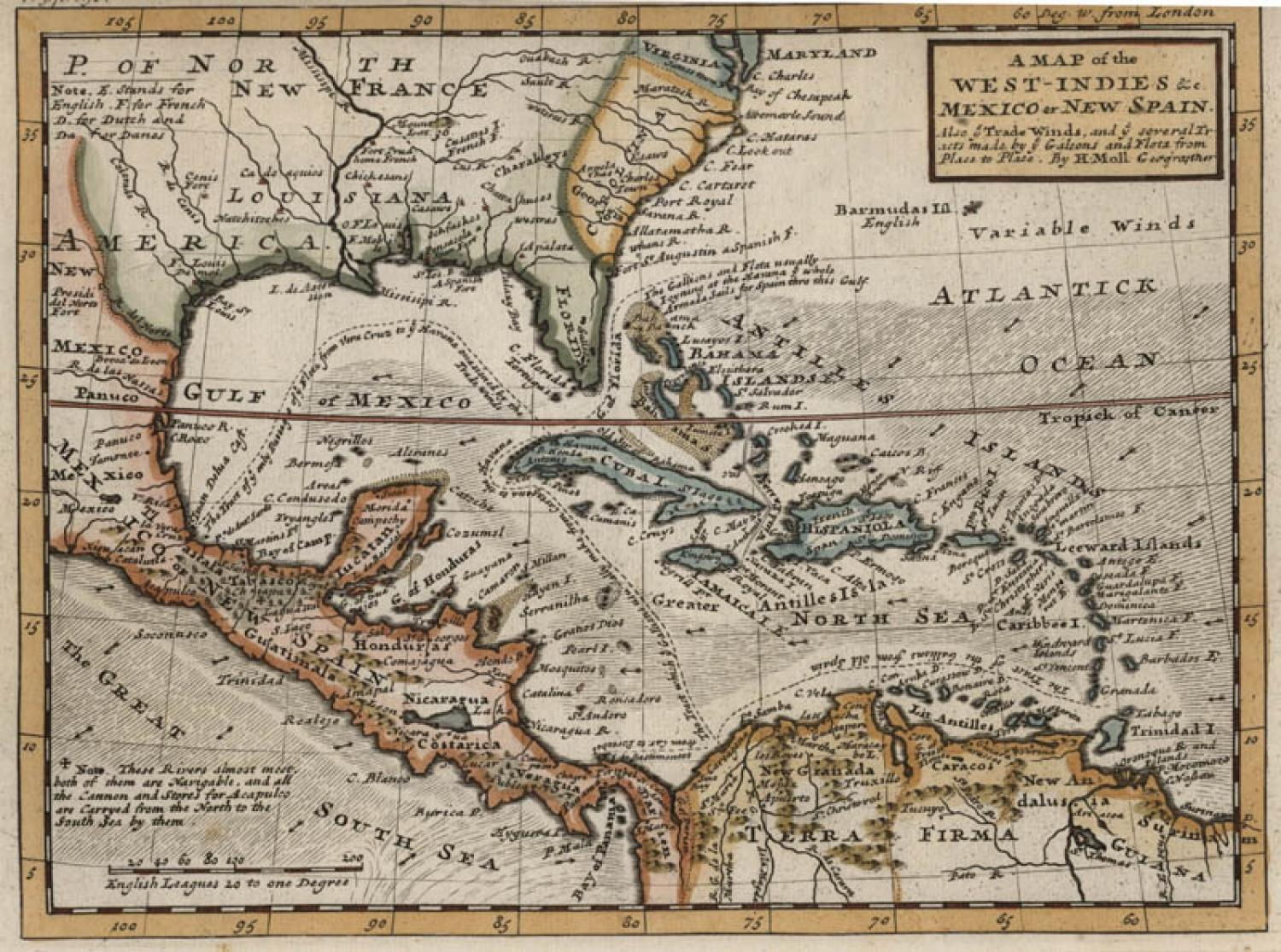 SOLD A Map Of the West Indies...