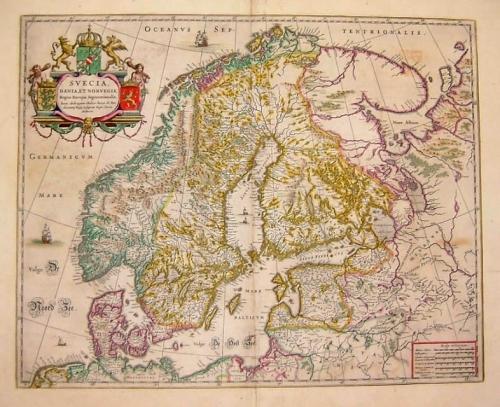 SOLD Svecia, Dania, et Norvegia, Regna Euroae Septentrionalia