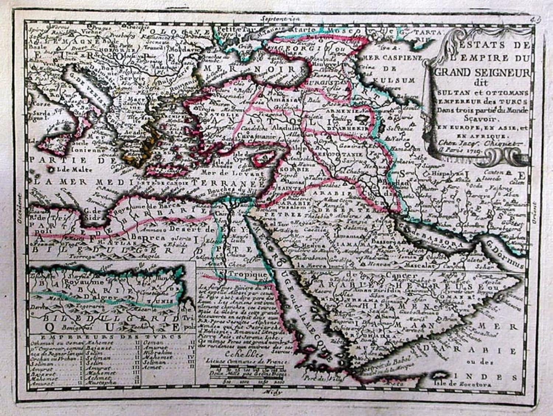 SOLD Estats de L'empire du Grand Seigneur dit Sultan et Ottomans Empereur des Turcs