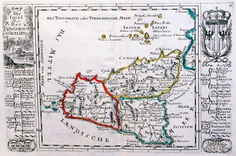 SOLD Die insul oder das Konigreich Sicilien