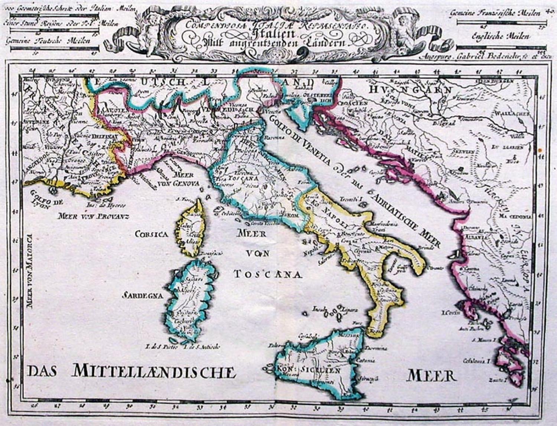 SOLD Compendiosa Italiae repraesentatio. Italien