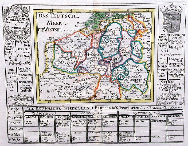SOLD Die Konigliche Niederland bestehen in X Provincien