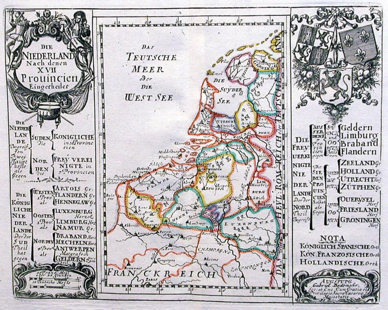 SOLD Die Nederland nach denen XVII Provincien