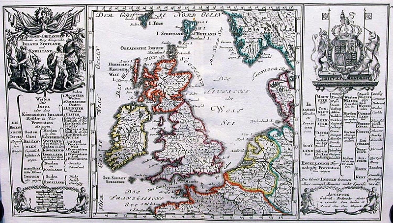 SOLD Gross Britannien bestehende in drey Konigreiche Irland Sotland und Engelland