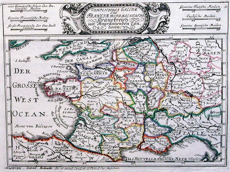 SOLD Compendiosa Gallie sive Franciae repraesentatio. Franckreich