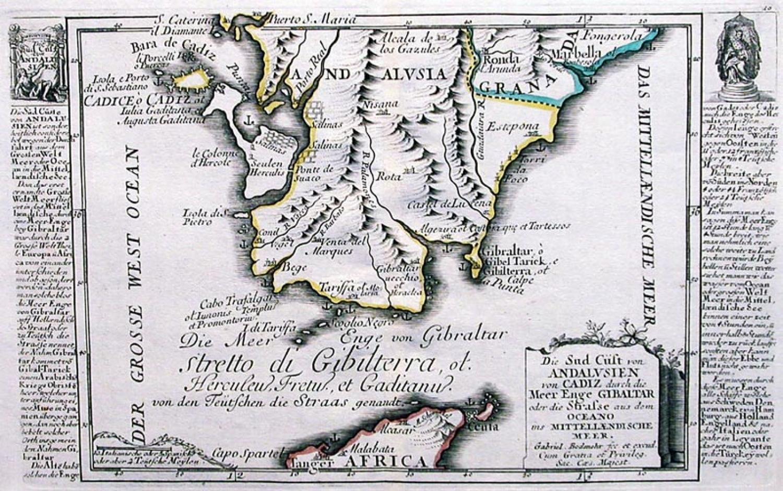 SOLD Die Sud Cust von Andalusien von Cadiz durch die meer enge Gibraltar