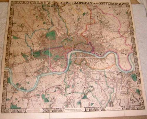 SOLD Cruchley's New Map of London and its Environs...