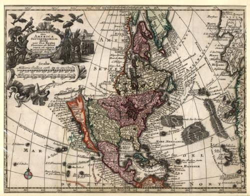 SOLD Novus Orbis sive America Septentrionalis divifa per fua Regna Provinc et Insul'