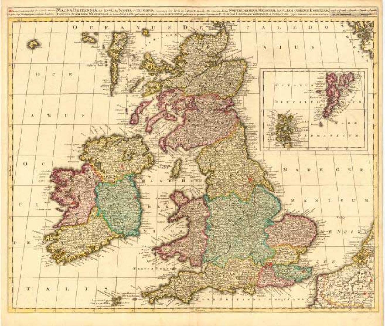 SOLD Magna Britannia, aut Anglia, Scotia et Hibernia