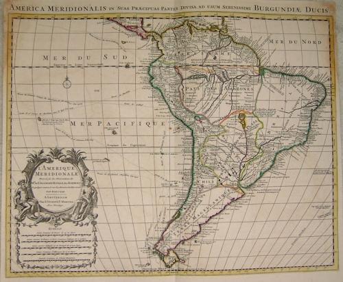 SOLD L'Amerique Meridionale Dresse sur les Observations...