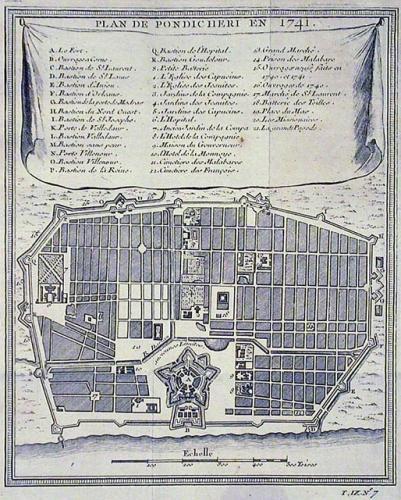 SOLD Plan de Pondicheri