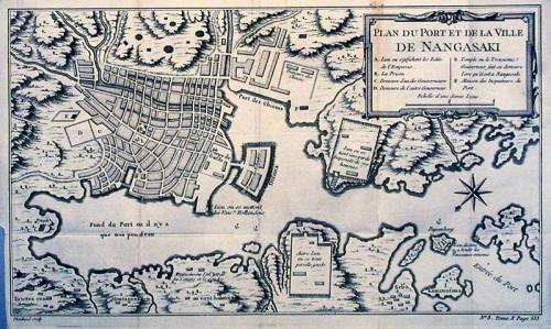 SOLD Plan du port et de la Ville de Nangasaki