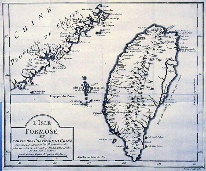 SOLD L'isle Formose et partie des costes de la Chine