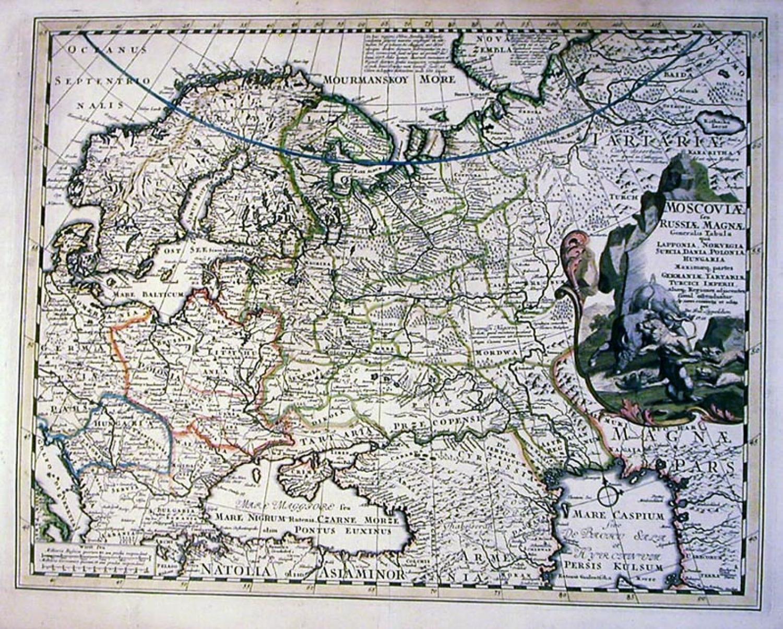 SOLD Moscoviae seu Russiae Magnae Generalis Tabula