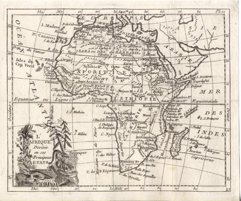 SOLD L'Afrique divisee en ses principaux etats