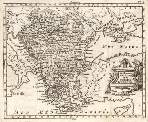 SOLD Le royaume de Hongrie et la Turquie d'Europe