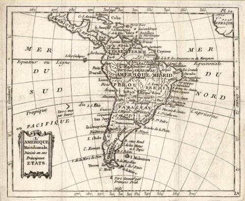 SOLD L'Amerique Meridionale divisee en ses principaux etats