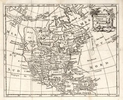 SOLD L'Amerique Septentrionale divisee en ses principaux etats