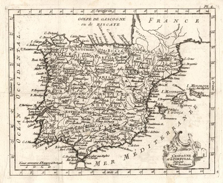 SOLD L'Espagne et le portugal divises par g.des provinces